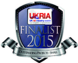 Shortlisted in the 2015 UK Rail Industry Awards for Small Project of the Year