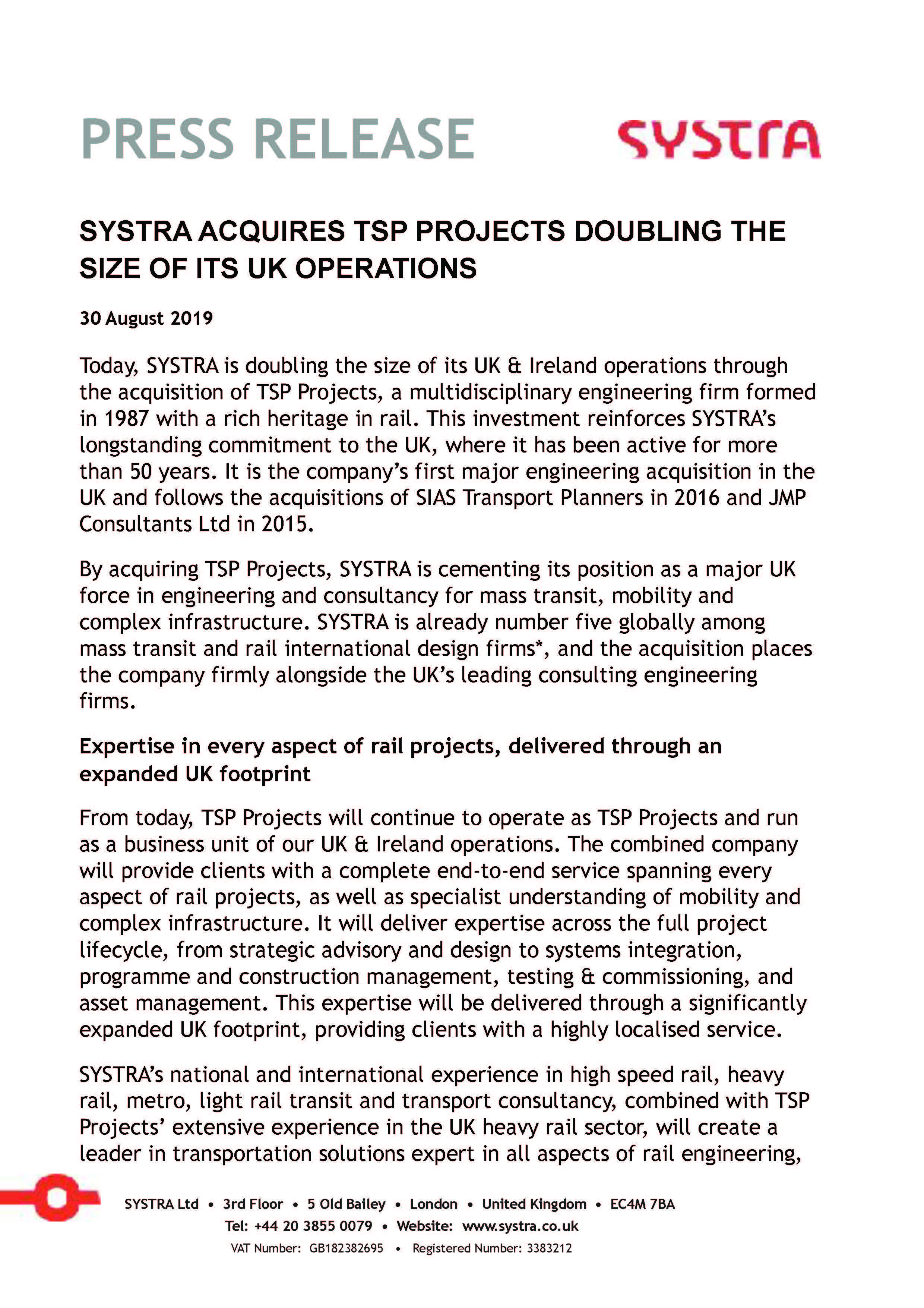 SYSTRA UK - a consulting and engineering firm, a world